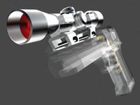 sniper scope hand guns 3d model