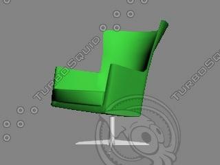 montis armchair 3d 3ds