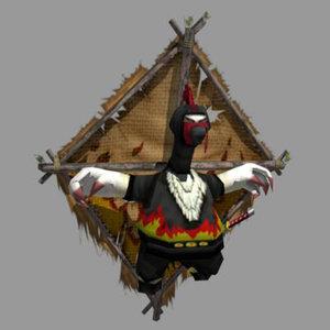 ninja chicken 3d model