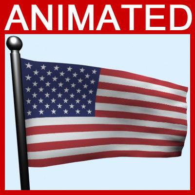 flag animation 3d max