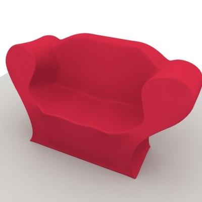sofa big easy pillow 3ds