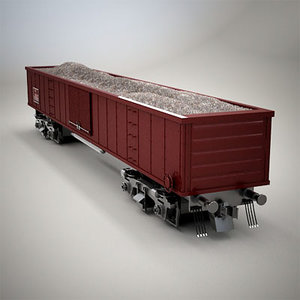 railroad car dump 3d max
