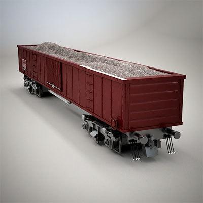 railroad car dump 3d max