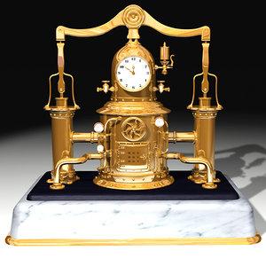 3d steam clock