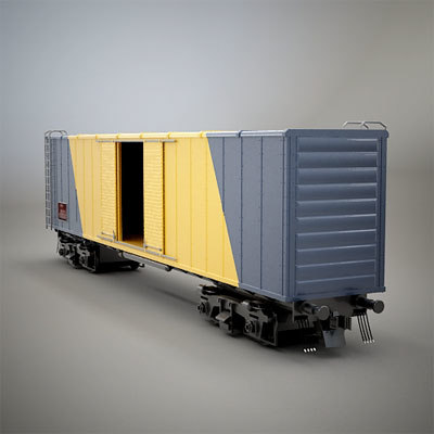 3ds car box boxcar