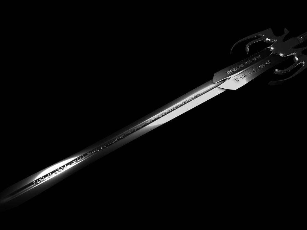 queen swords 3d c4d