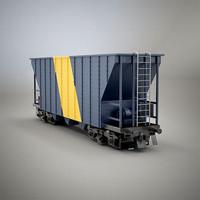 3d model railroad car dump