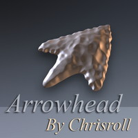 3d prehistoric arrowhead model