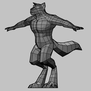 werewolf 3d model
