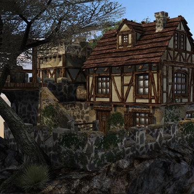 fantasy building 3d max