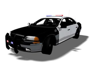 3d vehicle police car