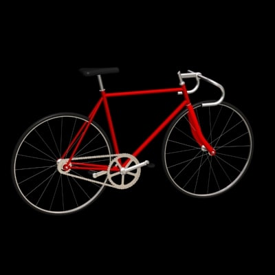 3dsmax track bicycle