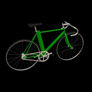 3d aero track bicycle model