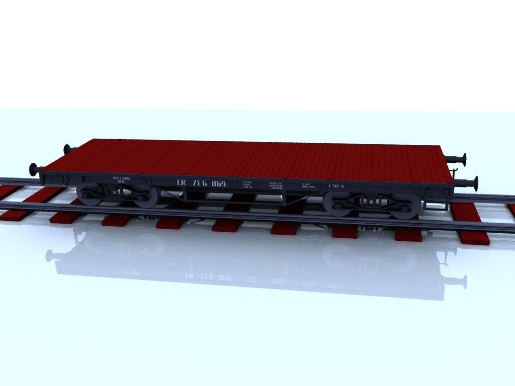 3d flatcar transport