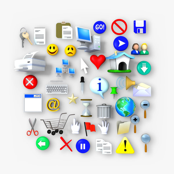 web icons 3d model
