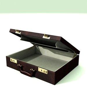 3d model of brief case briefcase