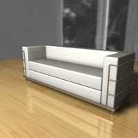 lecorbusier threeseater 3d 3ds