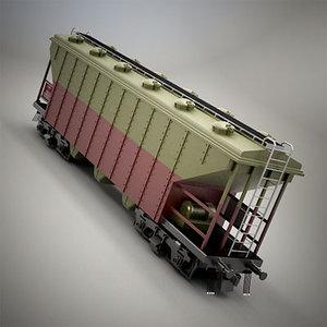 3ds max railroad car