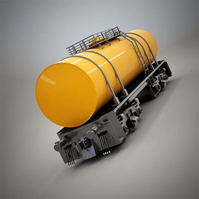 3d model tank railroad car