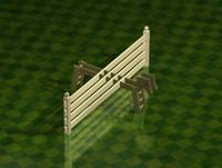 fence garden 3d max
