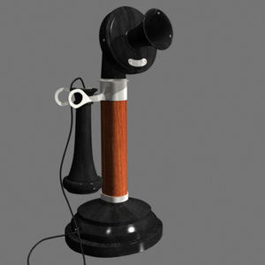 3d 1900 telephone model