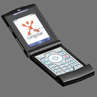 motorola cellular phone 3d model