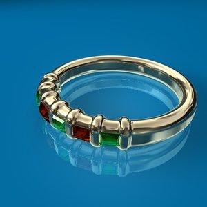 c4d garnet ring