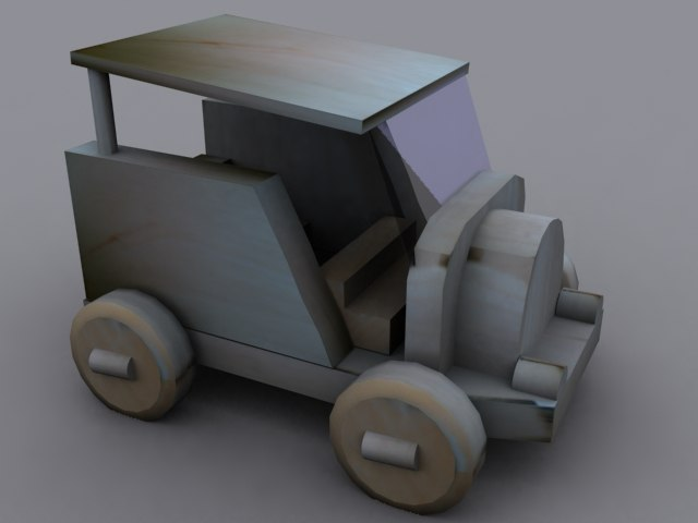 free max mode wooden car