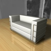 3d model lecorbusier twoseater