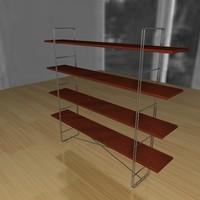 3d shelve realsoft model