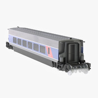 wagon passanger 3d model