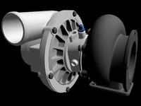 3d turbo engine model