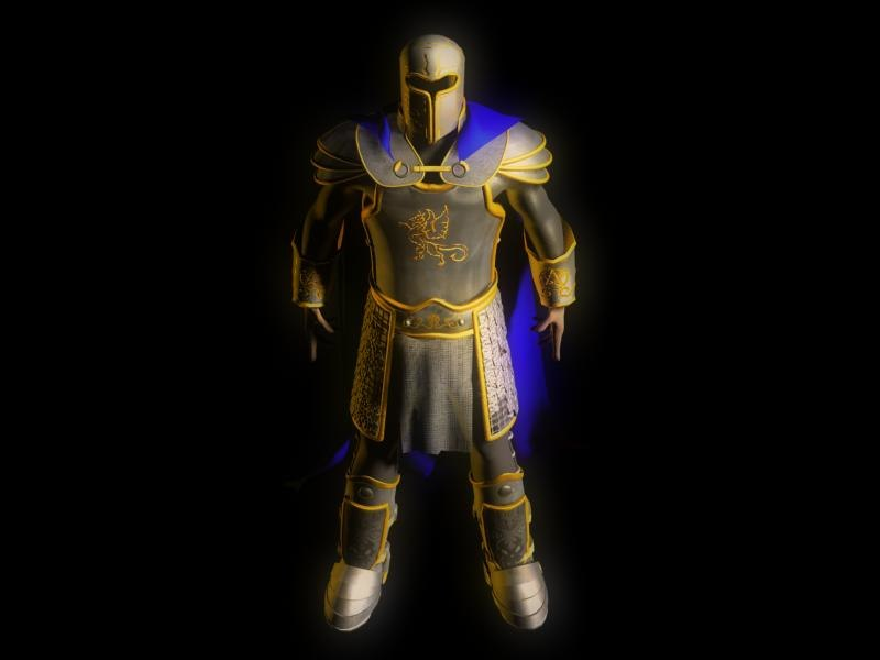 3d model of knight armor