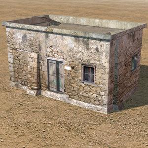 3d arab cottage