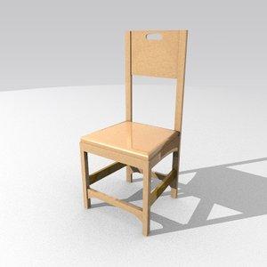 chair 3d lwo