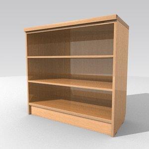 3d model cabinet bookstand