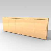 cabinet sideboard 3d lwo
