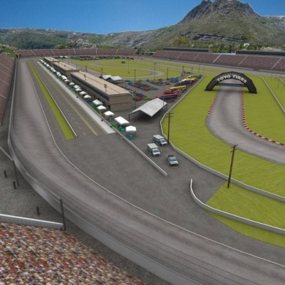 3ds max 75 speedway track race