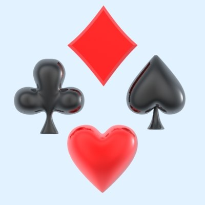 3ds max poker suits