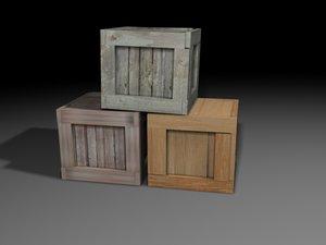 wood crates 3d 3ds