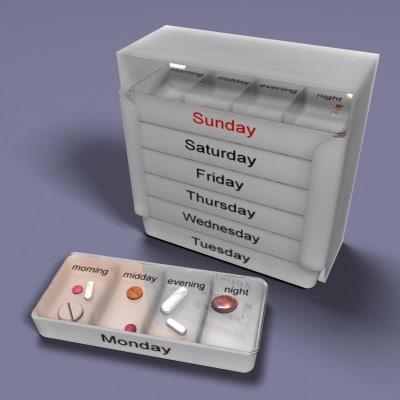 pillbox pill 3d max