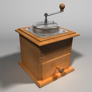 3d coffee grinder model