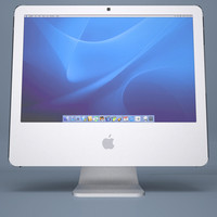 apple imac g5 core 3d model