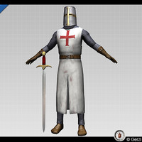 3d crusader knight model