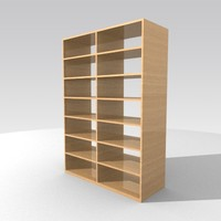 shelves bookstand 3d model