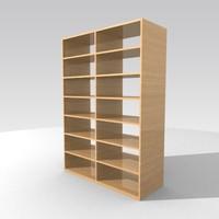 shelves bookstand 3d model