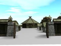 town oriental pack 3d model