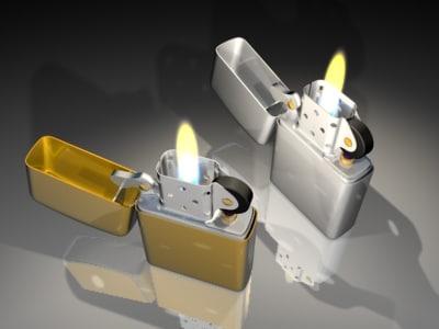 3d lighter lights model