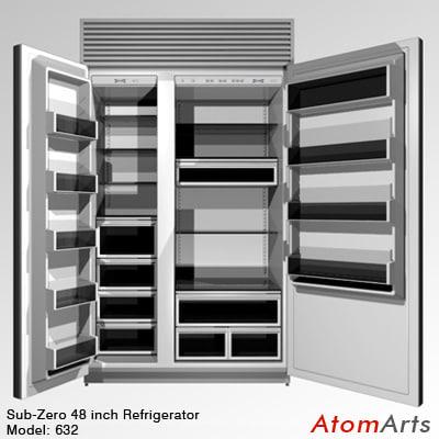 3d 48 inch refrigerator