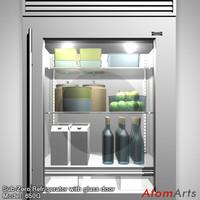refrigerator glass door sub-zero 3d model